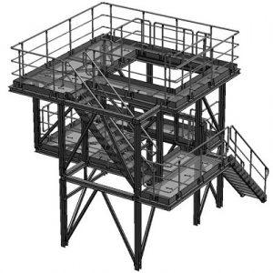 металлические площадки для технологического обслуживания оборудования