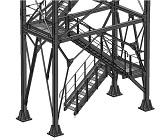 металлическая платформа для технологического обслуживания оборудования