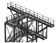 металлическая площадка для технологического обслуживания оборудования