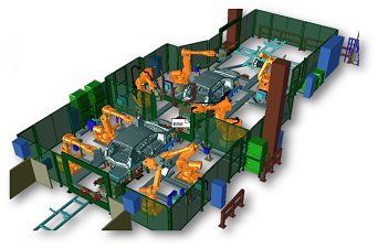 Линия роботизированной доварки 5х типов кузовов