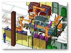 Роботизация геометрической станции приварки усилителя